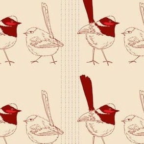 wrens red and beige