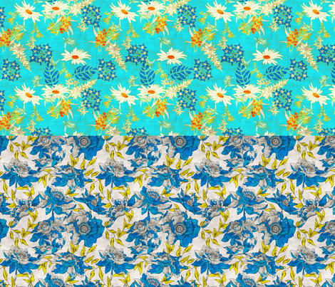 warm_wildflower_and_summertime_full_yard fabric by holli_zollinger on Spoonflower - custom fabric