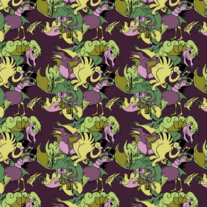 Monsters Purple/yellow