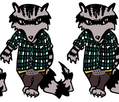 Raccoon Swagger II. fabric by pond_ripple on Spoonflower - custom fabric