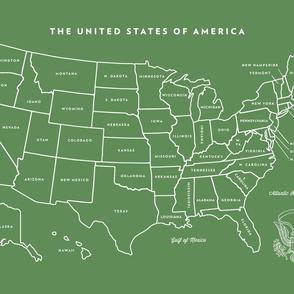 Vintage U.S. Map