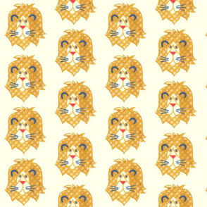 Yellow Plaid Lion