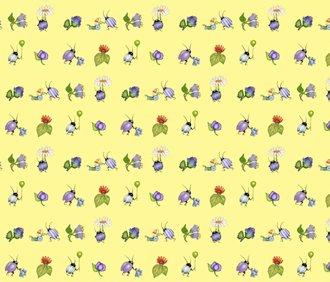 underbrush baby buggies fabric by golders on Spoonflower - custom fabric