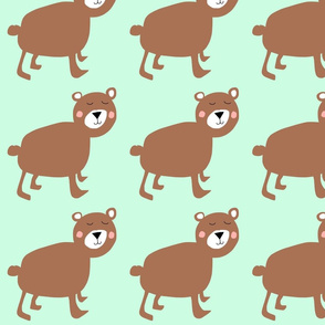 Modern brown bear pattern