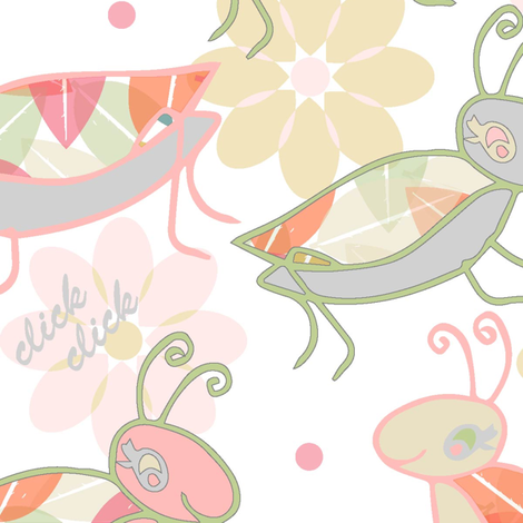Juicy_Ditsy_Crickets fabric by jane_turnbull on Spoonflower - custom fabric