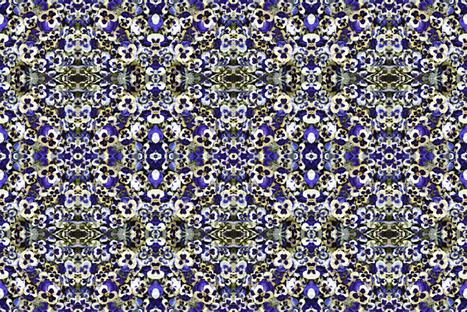 Purple Pansy Confetti fabric by larkspur_hill on Spoonflower - custom fabric
