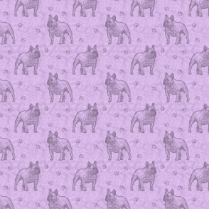 French Bulldog stamp - purple