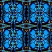 Flaming Blue Pinwheels