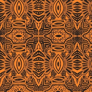 African Style-Black n Orange
