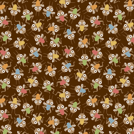 Dancing crickets fabric by petitspixels on Spoonflower - custom fabric