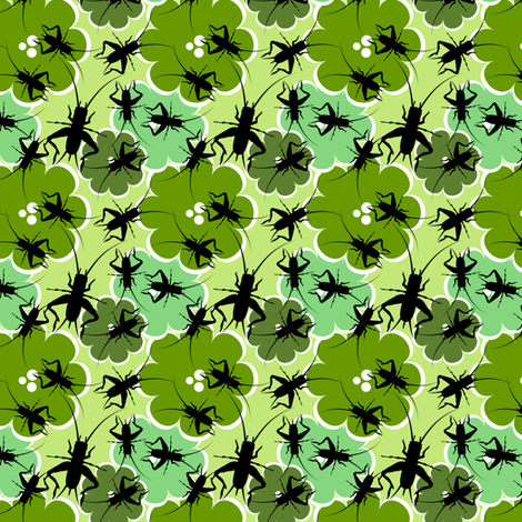 Ditsy Crickets fabric by anderson_designs on Spoonflower - custom fabric