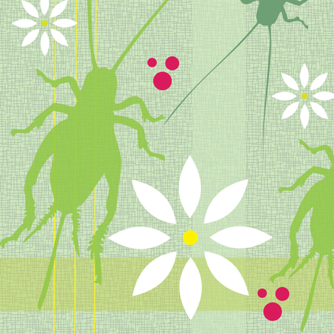 dancing_crickets-01 fabric by reginamartinedesign on Spoonflower - custom fabric