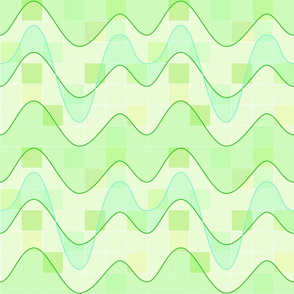 Sine Waves Bright Green