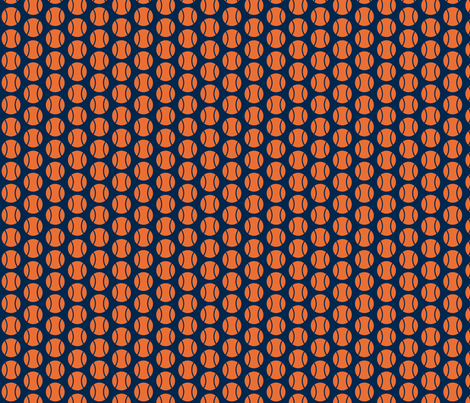 Small Half-Drop Orange/Navy Tennis Balls