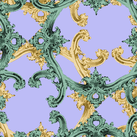The Rococo Swag ~ Louis fabric by peacoquettedesigns on Spoonflower - custom fabric