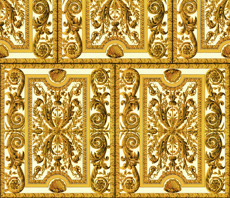 Go For Baroque ~ Gilt-y fabric by peacoquettedesigns on Spoonflower - custom fabric