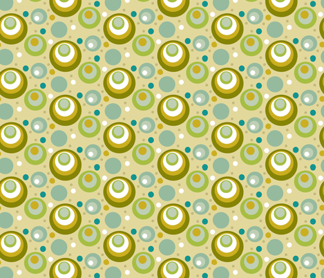 Natural_Aqua_Dots fabric by kelly_a on Spoonflower - custom fabric