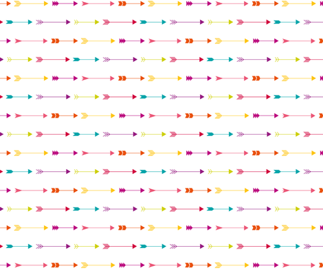Bright Arrows fabric by happyprintsshop on Spoonflower - custom fabric