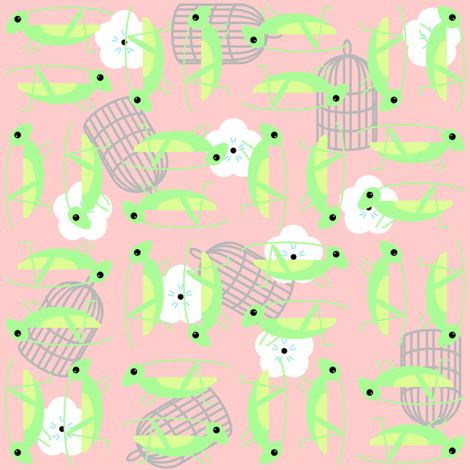 ditsy_chinese_crickets fabric by renateandtheanthouse on Spoonflower - custom fabric