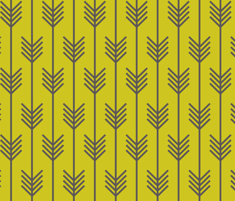 arrow_chartreuse fabric by holli_zollinger on Spoonflower - custom fabric