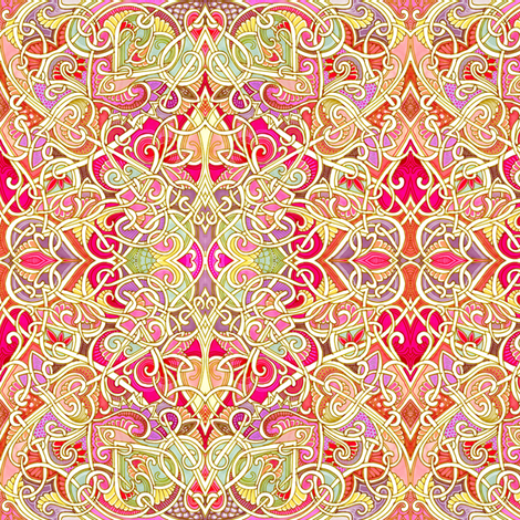 Heart Overkill fabric by edsel2084 on Spoonflower - custom fabric