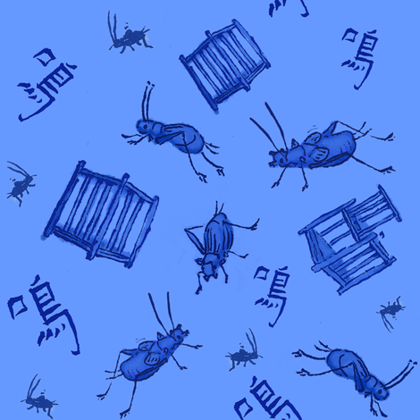 Ditsy Crickets fabric by terranacliff on Spoonflower - custom fabric