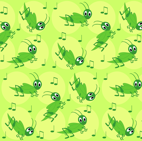 crickets fabric by annets on Spoonflower - custom fabric