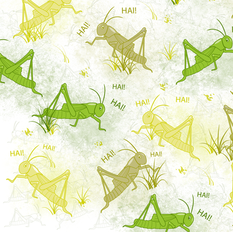 Noisy Crickets! fabric by digital_bath on Spoonflower - custom fabric