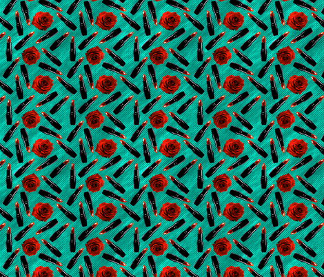 lipstick fabric by kociara on Spoonflower - custom fabric
