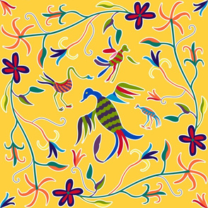 Otomi Birds_gold