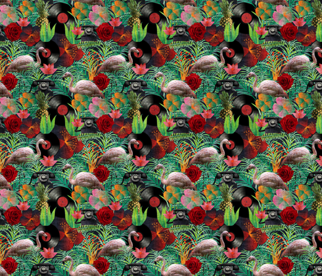 rockabilly mix grunge fabric by kociara on Spoonflower - custom fabric