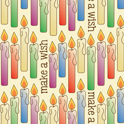 """Make a Wish"" Birthday Candles fabric by strive on Spoonflower - custom fabric"