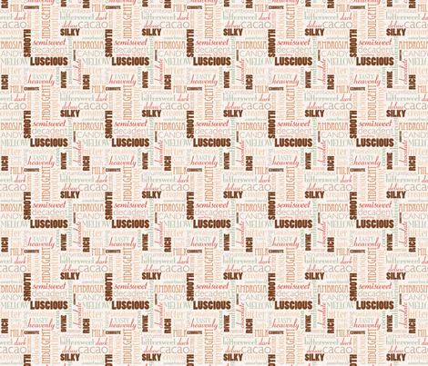Chocolate Words fabric by studiofibonacci on Spoonflower - custom fabric