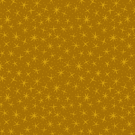 stellate whimsy - dark golden aspen fabric by weavingmajor on Spoonflower - custom fabric