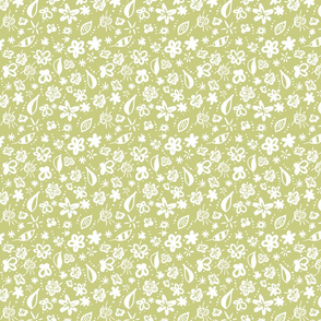 Fall Floral White and Sage Green