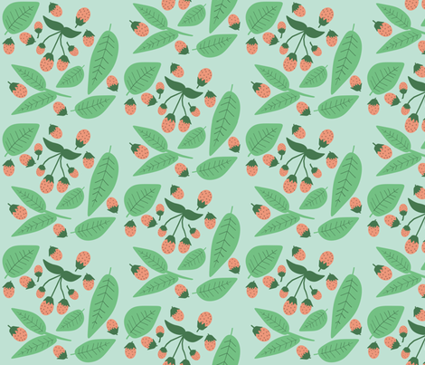 A Summer Wedding scattered berries fabric by heidikenney on Spoonflower - custom fabric