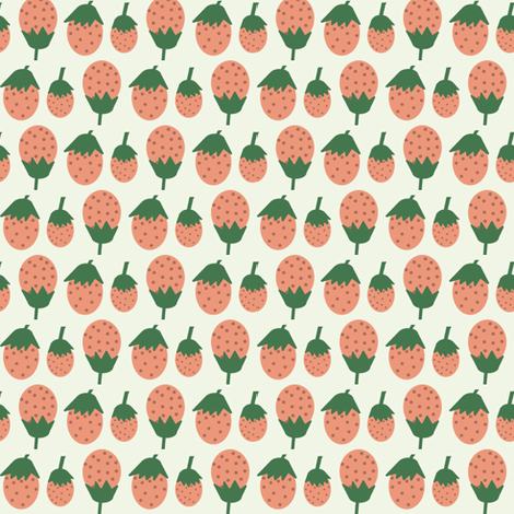 A Summer Wedding Strawberries fabric by heidikenney on Spoonflower - custom fabric