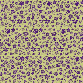 Fall Floral Purple and Green