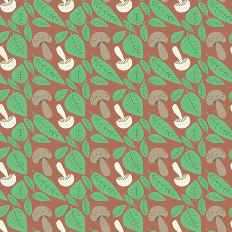 A Summer Wedding mushrooms fabric by heidikenney on Spoonflower - custom fabric