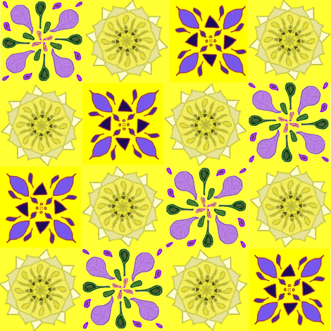 Yellow and Lavender Quilt fabric by ravynscache on Spoonflower - custom fabric