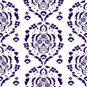 Damask de los Muertos - Dark Purple