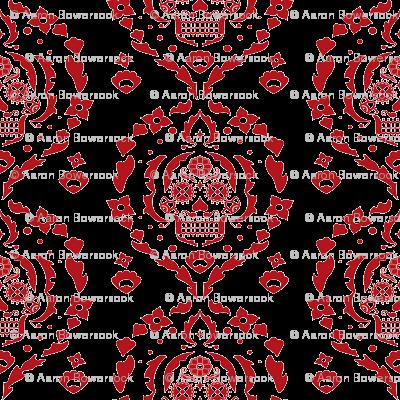 Damask de los Muertos (deep red)
