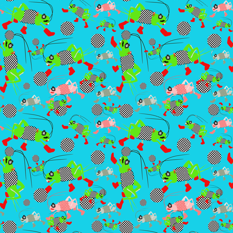 A Cricket Match fabric by karenharveycox on Spoonflower - custom fabric