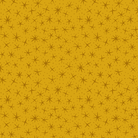 stellate whimsy - honey gold fabric by weavingmajor on Spoonflower - custom fabric