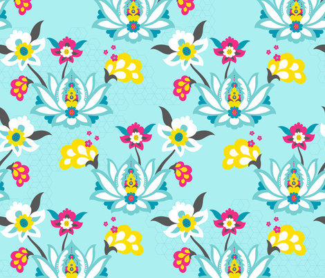 Arabian Floral fabric by zesti on Spoonflower - custom fabric