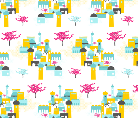 Arabian Town fabric by zesti on Spoonflower - custom fabric