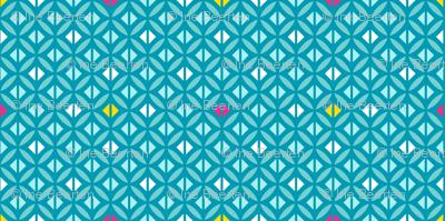 Arabian Squares Blue