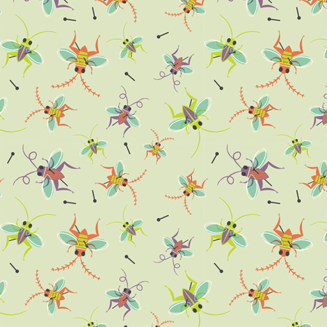 Lucky Cricket Collector fabric by jordan_elise on Spoonflower - custom fabric
