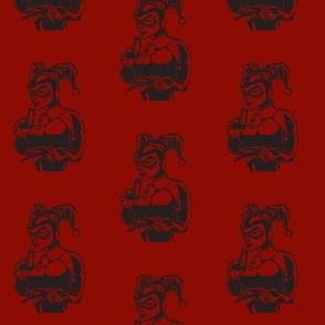 harley quinn lino print