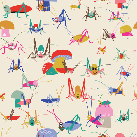 crickets fabric by pragya_k on Spoonflower - custom fabric